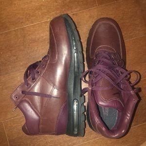 Burgundy Nike ACG boots